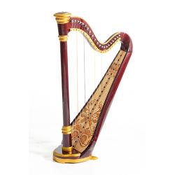 MLH0023 Iris Арфа 21 струнная (A4-G1), цвет махагони глянцевый, Resonance Harps