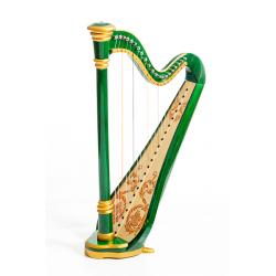 MLH0025 Iris Арфа 21 струнная (A4-G1), цвет зеленый глянцевый, Resonance Harps