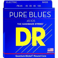 PURE BLUES Струны для бас гитар DR PB-45