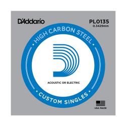 PL0135 Plain Steel Отдельная струна без обмотки, сталь, .0135, D'Addario
