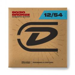 DAB1254 Комплект струн для акустической гитары, бронза 80/20, Light, 12-54, Dunlop