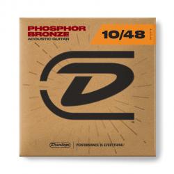 DAP1048 Комплект струн для акустической гитары, фосф.бронза, Extra Light, 10-48, Dunlop