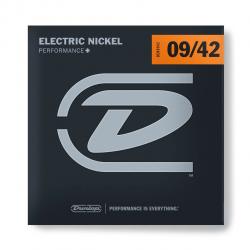 DEN0942 Комплект струн для электрогитары, никелированные, Light, 9-42, Dunlop