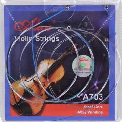A703 Комплект струн для скрипки, никель Alice