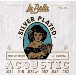 La Bella 700ML Комплект струн для акустической гитары 011-052