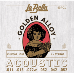 40PCL Комплект струн для акустической гитары 11-52 La Bella