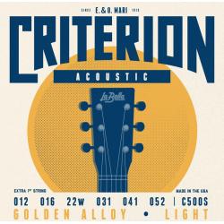 C500S Criterion Комплект струн для акустической гитары, бронза, Light, 12-52, La Bella