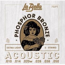 7GPT Комплект струн для акустической гитары, La Bella