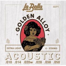 40PT Комплект струн для акустической гитары, La Bella