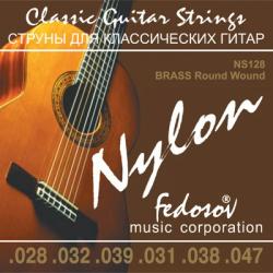 NS128 Brass Round Wound Комплект струн для классической гитары, Fedosov
