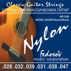 NS228 Nickel Silver Round Wound Комплект струн для классической гитары, Fedosov